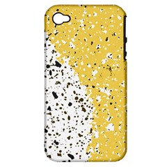 Spot Polka Dots Orange Black Apple Iphone 4/4s Hardshell Case (pc+silicone) by Mariart