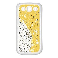 Spot Polka Dots Orange Black Samsung Galaxy S3 Back Case (white) by Mariart