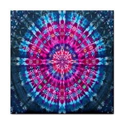 Red Blue Tie Dye Kaleidoscope Opaque Color Circle Face Towel by Mariart