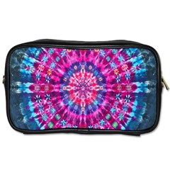 Red Blue Tie Dye Kaleidoscope Opaque Color Circle Toiletries Bags 2 Side by Mariart
