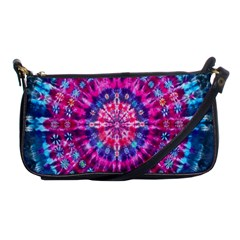 Red Blue Tie Dye Kaleidoscope Opaque Color Circle Shoulder Clutch Bags by Mariart