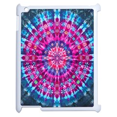 Red Blue Tie Dye Kaleidoscope Opaque Color Circle Apple Ipad 2 Case (white) by Mariart