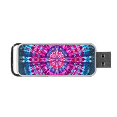 Red Blue Tie Dye Kaleidoscope Opaque Color Circle Portable Usb Flash (one Side) by Mariart
