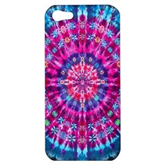 Red Blue Tie Dye Kaleidoscope Opaque Color Circle Apple Iphone 5 Hardshell Case by Mariart