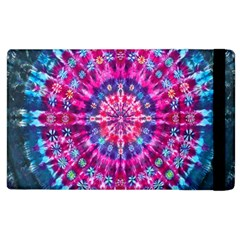 Red Blue Tie Dye Kaleidoscope Opaque Color Circle Apple Ipad 3/4 Flip Case by Mariart