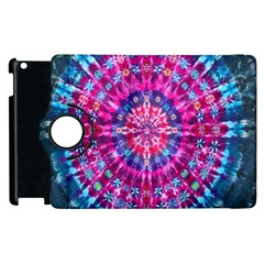 Red Blue Tie Dye Kaleidoscope Opaque Color Circle Apple Ipad 2 Flip 360 Case by Mariart