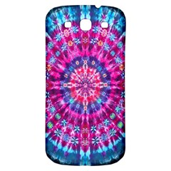 Red Blue Tie Dye Kaleidoscope Opaque Color Circle Samsung Galaxy S3 S Iii Classic Hardshell Back Case by Mariart
