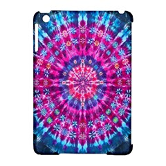 Red Blue Tie Dye Kaleidoscope Opaque Color Circle Apple Ipad Mini Hardshell Case (compatible With Smart Cover) by Mariart