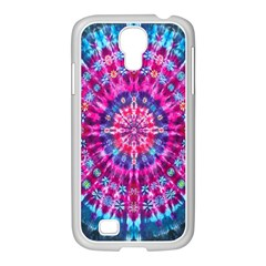 Red Blue Tie Dye Kaleidoscope Opaque Color Circle Samsung Galaxy S4 I9500/ I9505 Case (white) by Mariart
