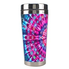 Red Blue Tie Dye Kaleidoscope Opaque Color Circle Stainless Steel Travel Tumblers by Mariart