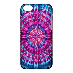 Red Blue Tie Dye Kaleidoscope Opaque Color Circle Apple Iphone 5c Hardshell Case by Mariart