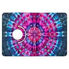 Red Blue Tie Dye Kaleidoscope Opaque Color Circle Kindle Fire Hdx Flip 360 Case by Mariart