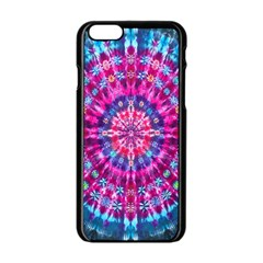 Red Blue Tie Dye Kaleidoscope Opaque Color Circle Apple Iphone 6/6s Black Enamel Case by Mariart