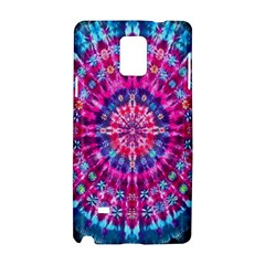 Red Blue Tie Dye Kaleidoscope Opaque Color Circle Samsung Galaxy Note 4 Hardshell Case by Mariart