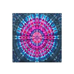 Red Blue Tie Dye Kaleidoscope Opaque Color Circle Satin Bandana Scarf by Mariart