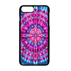 Red Blue Tie Dye Kaleidoscope Opaque Color Circle Apple Iphone 7 Plus Seamless Case (black) by Mariart
