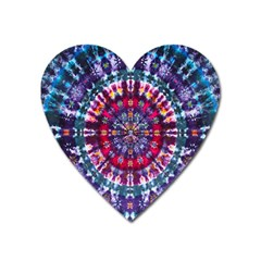 Red Purple Tie Dye Kaleidoscope Opaque Color Heart Magnet by Mariart