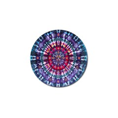 Red Purple Tie Dye Kaleidoscope Opaque Color Golf Ball Marker (4 Pack) by Mariart