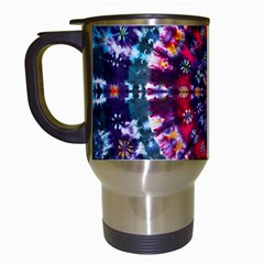 Red Purple Tie Dye Kaleidoscope Opaque Color Travel Mugs (white) by Mariart