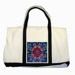 Red Purple Tie Dye Kaleidoscope Opaque Color Two Tone Tote Bag by Mariart