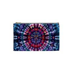 Red Purple Tie Dye Kaleidoscope Opaque Color Cosmetic Bag (small)  by Mariart