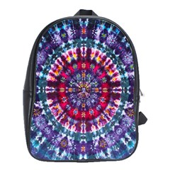 Red Purple Tie Dye Kaleidoscope Opaque Color School Bags(large)  by Mariart