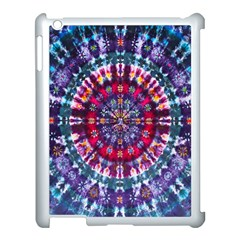 Red Purple Tie Dye Kaleidoscope Opaque Color Apple Ipad 3/4 Case (white) by Mariart