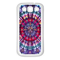 Red Purple Tie Dye Kaleidoscope Opaque Color Samsung Galaxy S3 Back Case (white) by Mariart