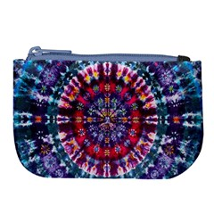 Red Purple Tie Dye Kaleidoscope Opaque Color Large Coin Purse by Mariart