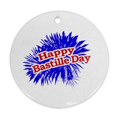 Happy Bastille Day Graphic Logo Ornament (round) by dflcprints