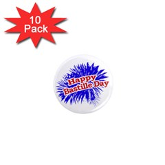 Happy Bastille Day Graphic Logo 1  Mini Magnet (10 Pack)  by dflcprints