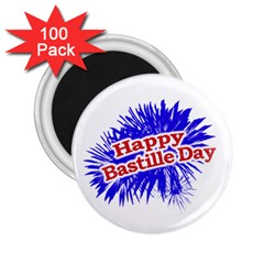 Happy Bastille Day Graphic Logo 2 25  Magnets (100 Pack)  by dflcprints