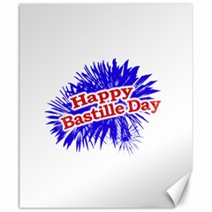 Happy Bastille Day Graphic Logo Canvas 20  X 24   by dflcprints