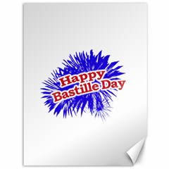 Happy Bastille Day Graphic Logo Canvas 36  X 48   by dflcprints