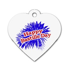 Happy Bastille Day Graphic Logo Dog Tag Heart (one Side) by dflcprints