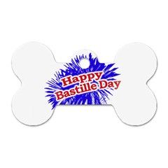 Happy Bastille Day Graphic Logo Dog Tag Bone (one Side) by dflcprints