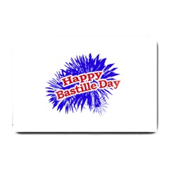 Happy Bastille Day Graphic Logo Small Doormat  by dflcprints