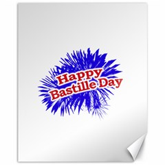 Happy Bastille Day Graphic Logo Canvas 11  X 14   by dflcprints