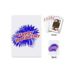 Happy Bastille Day Graphic Logo Playing Cards (mini)  by dflcprints