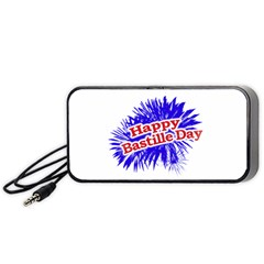Happy Bastille Day Graphic Logo Portable Speaker (black) by dflcprints