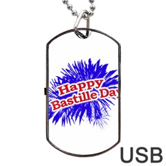 Happy Bastille Day Graphic Logo Dog Tag Usb Flash (one Side) by dflcprints