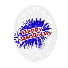 Happy Bastille Day Graphic Logo Oval Filigree Ornament (two Sides) by dflcprints