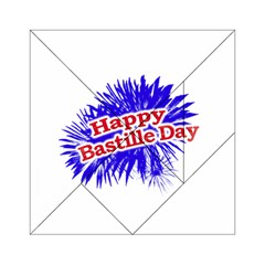 Happy Bastille Day Graphic Logo Acrylic Tangram Puzzle (6  X 6 ) by dflcprints