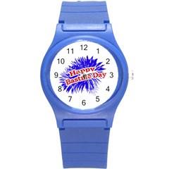 Happy Bastille Day Graphic Logo Round Plastic Sport Watch (s) by dflcprints