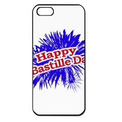 Happy Bastille Day Graphic Logo Apple Iphone 5 Seamless Case (black) by dflcprints