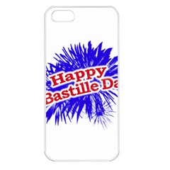 Happy Bastille Day Graphic Logo Apple Iphone 5 Seamless Case (white) by dflcprints