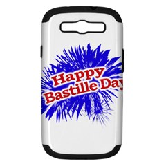 Happy Bastille Day Graphic Logo Samsung Galaxy S Iii Hardshell Case (pc+silicone) by dflcprints