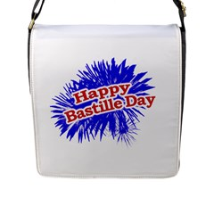 Happy Bastille Day Graphic Logo Flap Messenger Bag (l)  by dflcprints