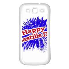 Happy Bastille Day Graphic Logo Samsung Galaxy S3 Back Case (white) by dflcprints