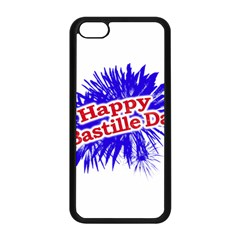 Happy Bastille Day Graphic Logo Apple Iphone 5c Seamless Case (black) by dflcprints